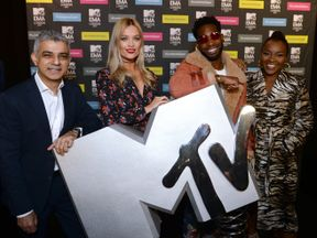 Sadiq Khan, Laura Whitmore, Tinie Tempah and Ray BLK announce London as host city for the 2017 MTV European Music Awards (EMAs)