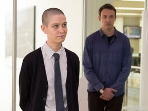 Taylor, played by actress Asia Kate Dillon