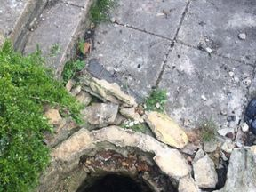 Malmesbury fire station posted this picture of the well after the rescue