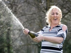 Bev drank expensive wine after she won the jackpot