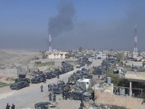 Iraqi forces have launched an attack on Mosul airport and a nearby military base