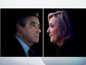 Francois Fillon and Marine Le Pen