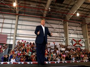 Donald Trump discussed trade and his plans for restricting immigration