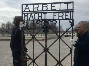 Stolen Nazi concentration camp gate returned to Dachau