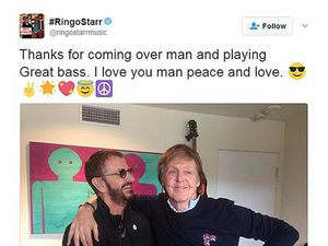 Beatles stars Paul and Ringo come together for new album