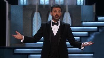 Oscar's host Jimmy Kimmel attacks President Trump in a series of gags. Pic: AMPAS