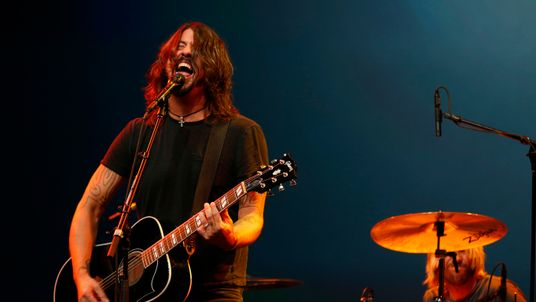 Dave Grohl performs with his band The Foo Fighters