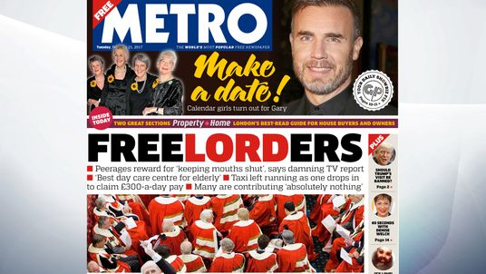 Many peers in  the House of Lords are contributing nothing and are being rewarded for keeping their mouths shut, reports, the Metro