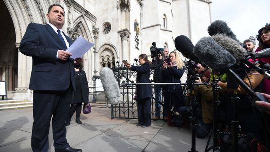 Managing Director of Tui Nick Longman outside the Royal Courts of Justice in London