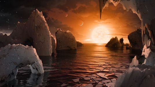 Scientists using the Spitzer space telescopes found the seven planets. Pic: NASA/JPL-Caltech