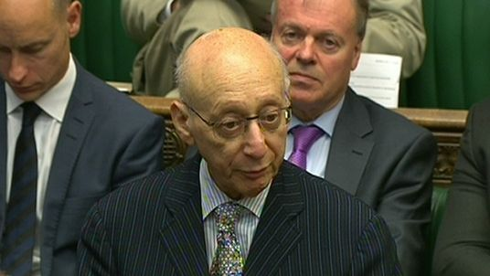 Sir Gerald Kaufman in the Commons in 2015