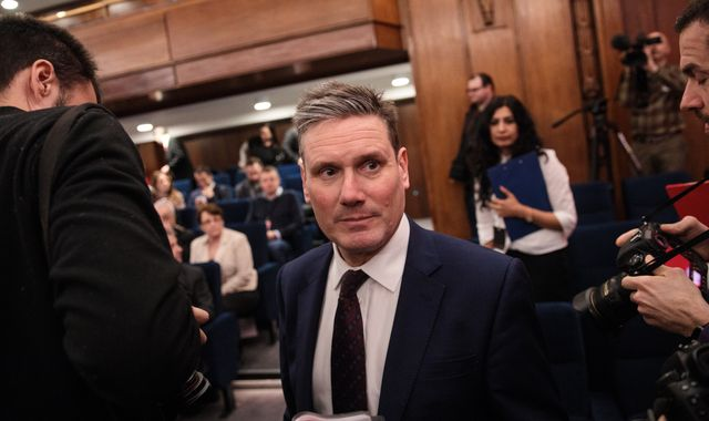 Shadow cabinet's Keir Starmer writes off Labour's election chances