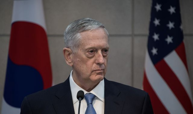 US defence secretary General James Mattis visits Baghdad