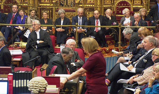Theresa May makes appearance in the House of Lords as peers debate Brexit