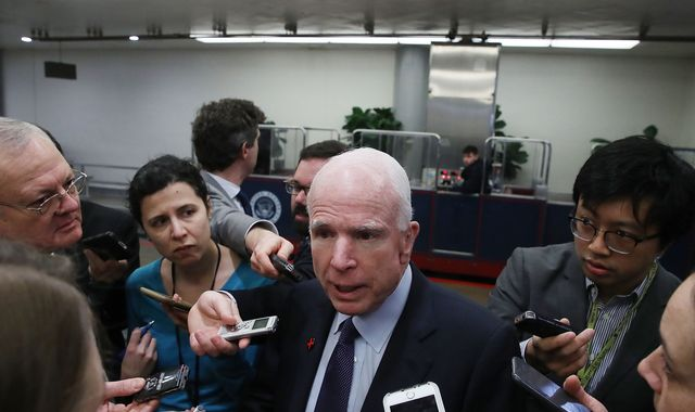 Donald Trump attacking media is 'how dictators start' - John McCain