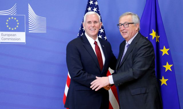 Mike Pence vows Donald Trump's 'strong commitment' to EU
