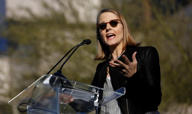 Jodie Foster urges resistance against Donald Trump at protest rally