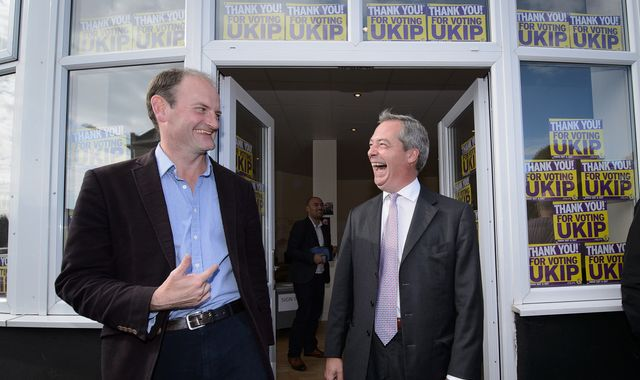 UKIP MP Douglas Carswell called in after Nigel Farage says he should be kicked out