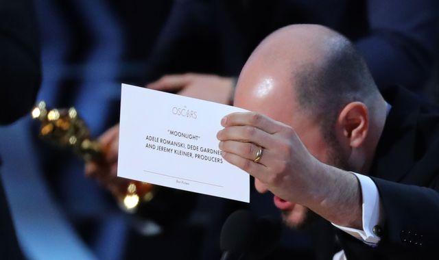 La La Land handed best picture Oscar in error instead of Moonlight