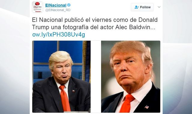 Newspaper apologises after using Baldwin SNL photo instead of Trump