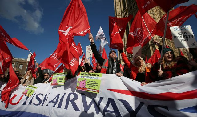 Striking British Airways hostess: 'We can only afford Pot Noodles'