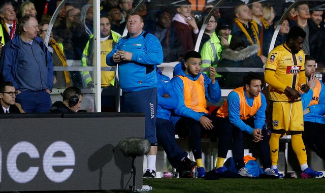 FA and Gambling Commission probe Sutton goalkeeper Wayne Shaw's pie-eating