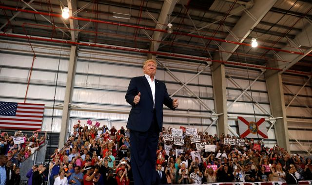 Trump launches fresh attack on 'dishonest media' at Florida rally
