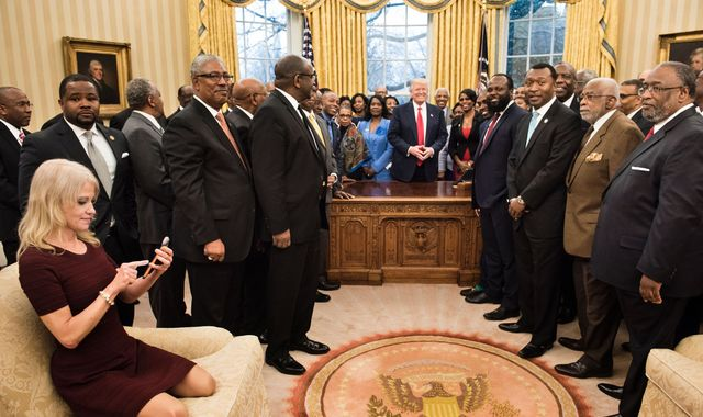 Kellyanne Conway's feet on Oval Office couch spark social media outrage