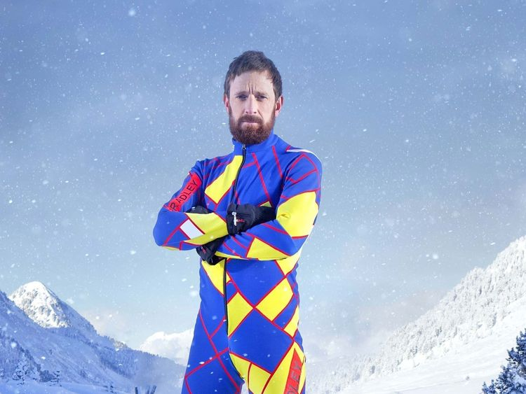 "Undated file handout photo issued by Channel 4 of Sir Bradley Wiggins who has pulled out of winter sports show The Jump after breaking his leg. PRESS ASSOCIATION Photo. Issue date: Sunday February 12, 2017. Britain's most decorated Olympian said he was ""gutted"" that the injury forced him out of the competition. See PA story SHOWBIZ TheJump. Photo credit should read: Steve Brown/Channel 4/PA Wire NOTE TO EDITORS: This handout photo may only be used in for editorial reporting purposes for the cont"