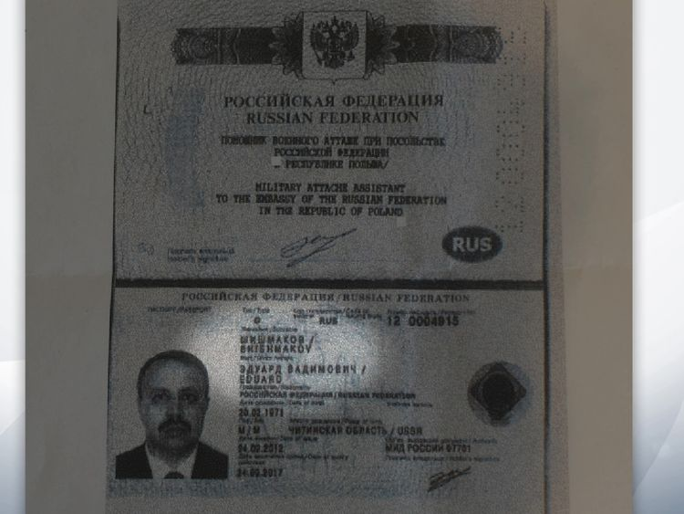 An old passport in the name of Eduard Shishmakov, later named as Eduard Shirokov