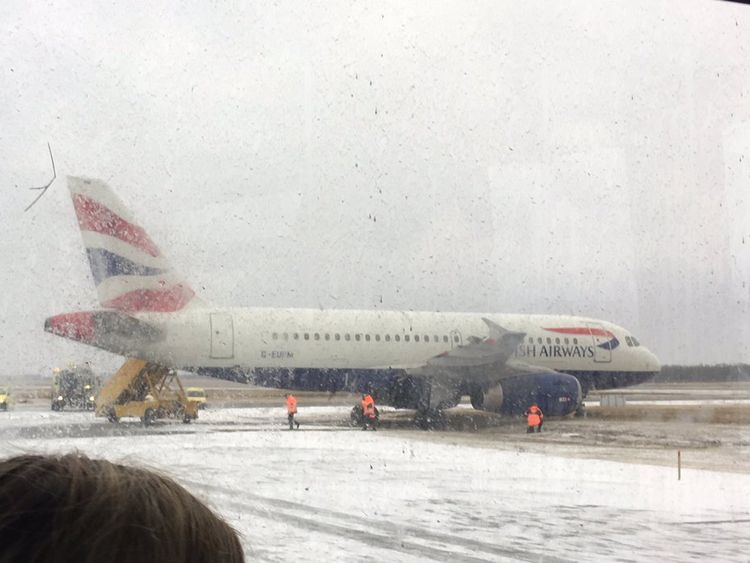 BA says there was a 'technical issue' on the plane. Pic: Stephen Hughes