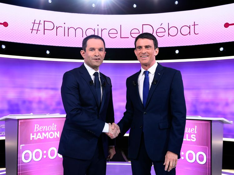 Mr Hamon beat ex-prime minister Manuel Valls to win the Socialist party nomination