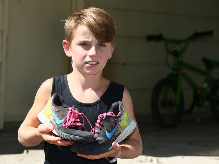 The spider that bit him was hiding in Matthew's shoe. Pic: The Daily Telegraph/Peter Clark