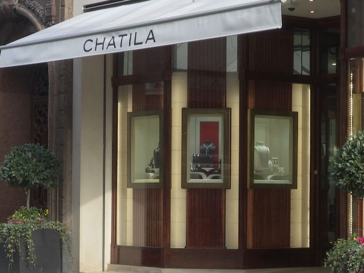 Chatila jewellers in Old Bond Street, Mayfair, London