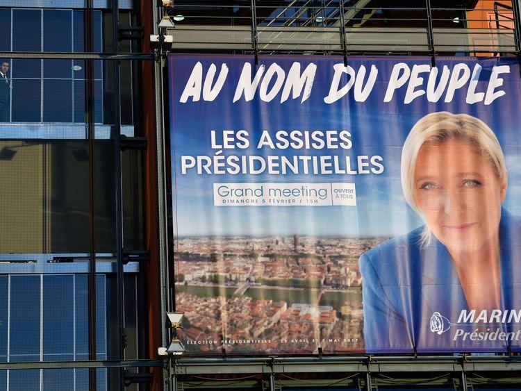 Marine Le Pen's campaign poster