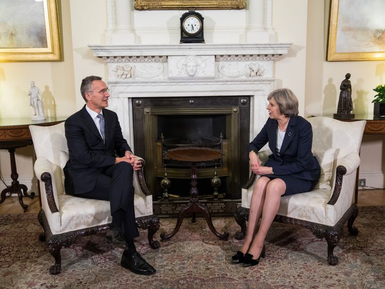 PM Theresa May meets NATO Secretary General Jens Stoltenberg in Downing Street
