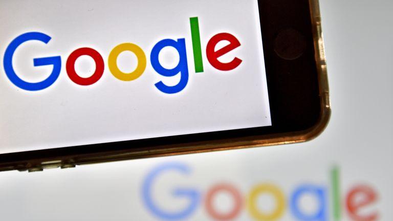 The Google logo on phone and desktop