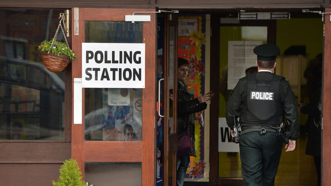 A polling station in Northern Ireland in 2015