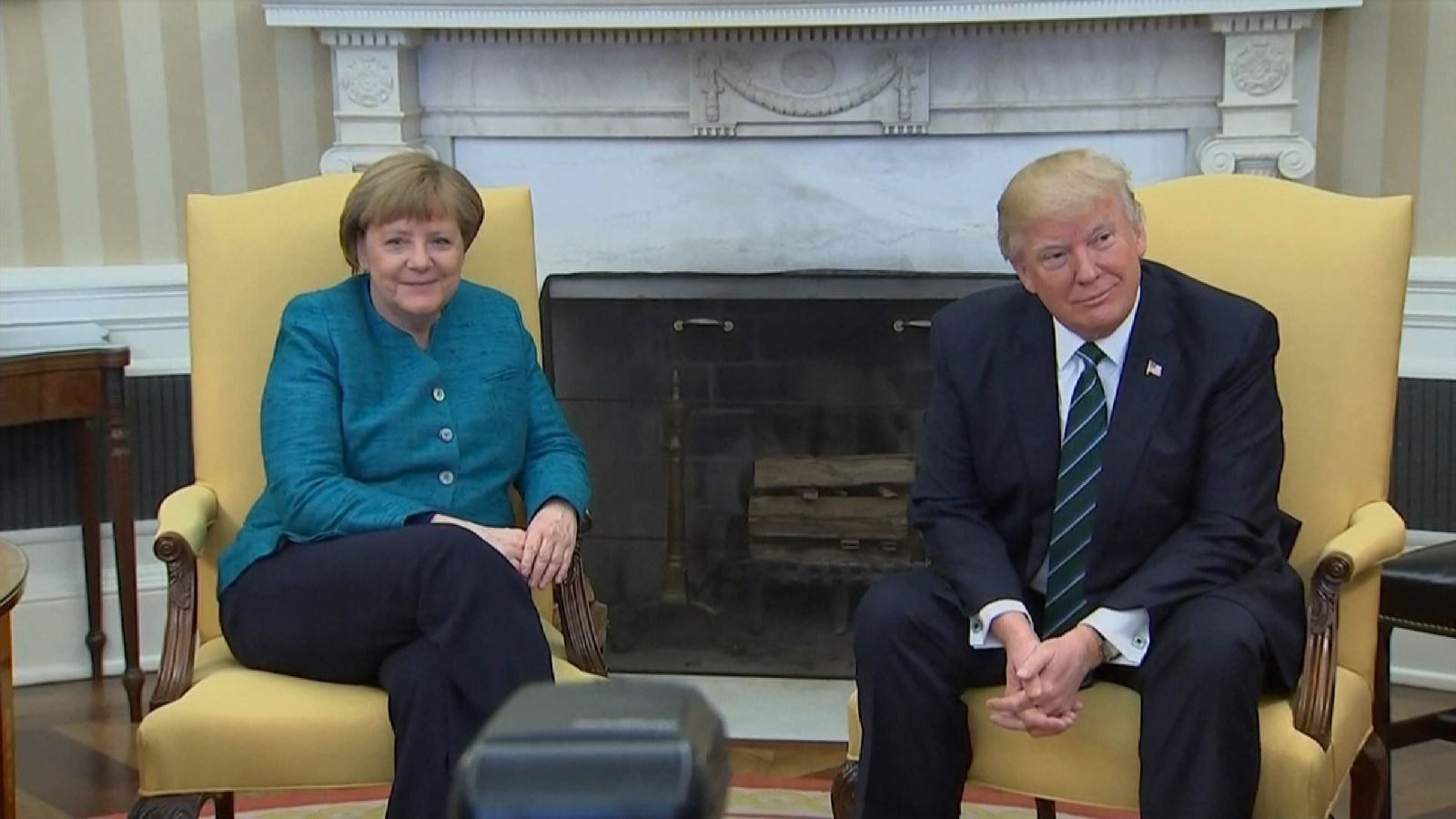 Angela Merkel and Donald Trump at the White House