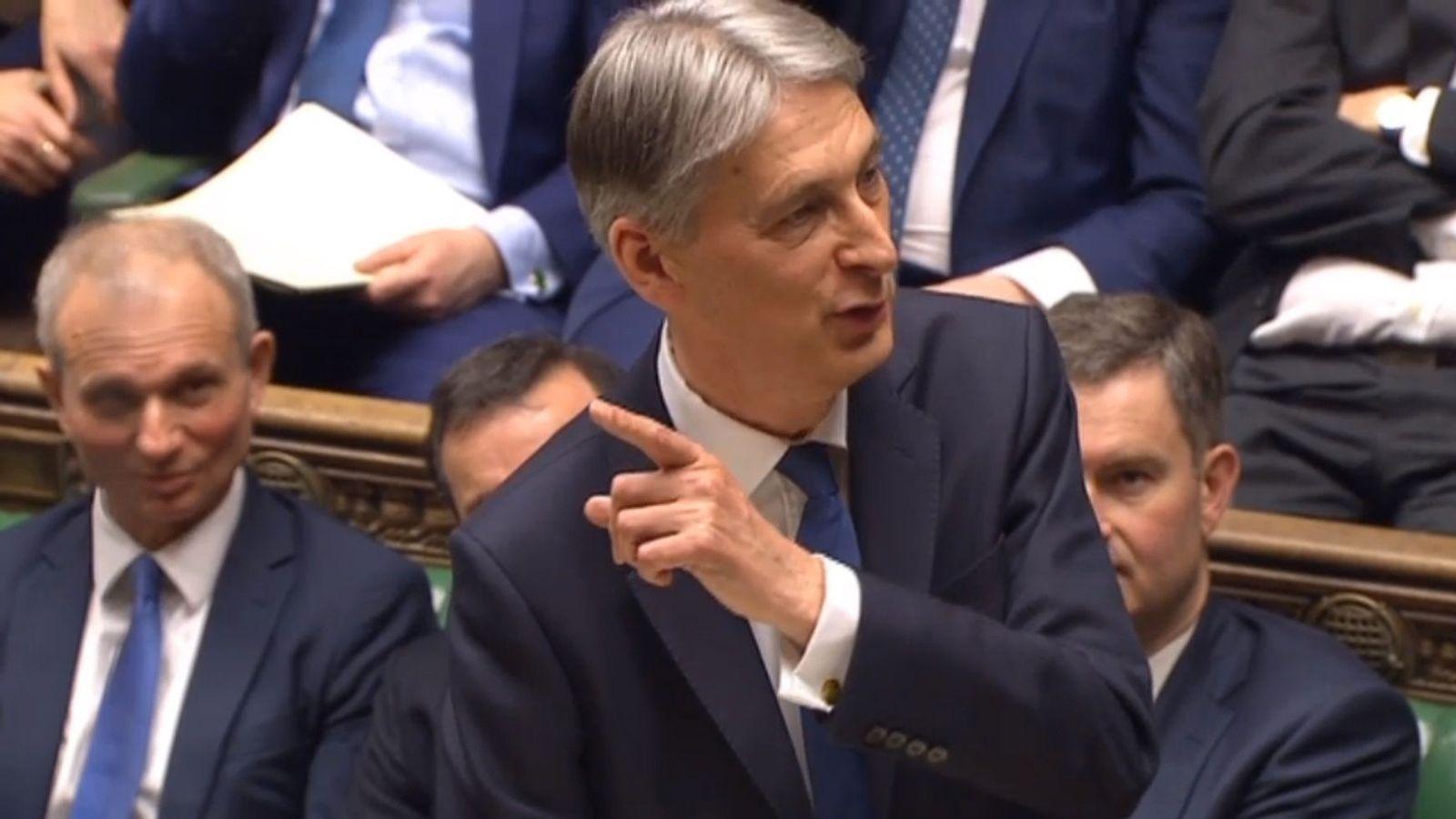 Philip Hammond gives his Budget speech