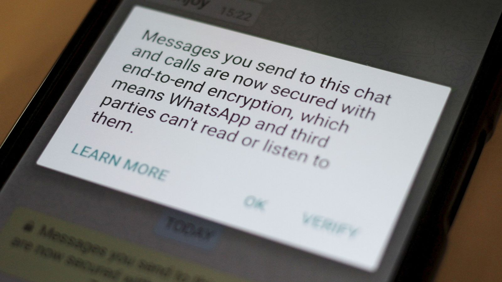 WhatsApp denies Government access to encrypted messages