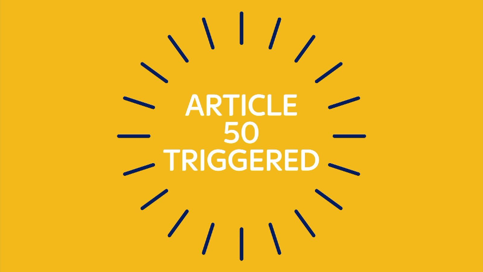 Article 50 has been triggered