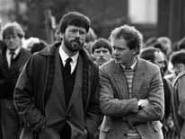 erry Adams and Martin McGuinness, 1987