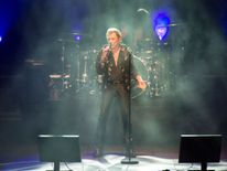 Hallyday was nicknamed the 'French Elvis' for his on stage persona