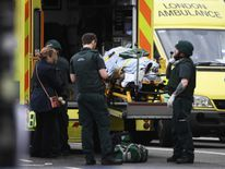 A member of the public is treated by emergency services