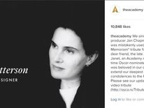 The Academy apologised to Ms Chapman in its Instagram page