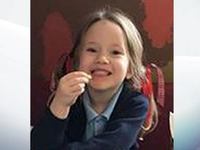 Violet Grace Youens and her grandmother had been hit by a stolen car on Friday