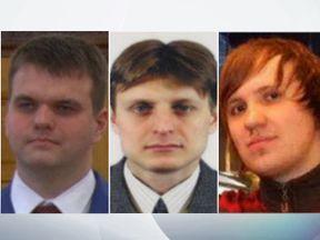 (L-R) Dmitry Dokuchaev, Igor Sushchin and Alexsey Belan