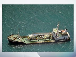 Dozens of armed pirates are feared to be on board the tanker. Pic: EU Naval Force