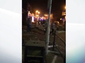 Witnesses say the blast caused 'horrific damage'